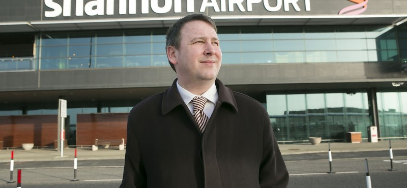 Joe Carey TD at Shannon Airport Photograph by Yvonne Vaughan Photography.