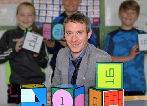 St Enda's NS Principal MJ Malone whose school will benefit from CLÁR funding.