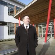 Joe Carey TD at Ennis National School. Photograph by Yvonne Vaughan Photography.