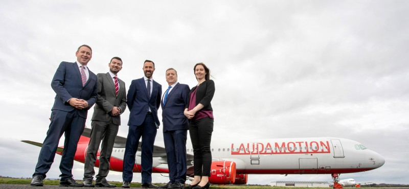 """REPRO FREE New Vienna service announced for Shannon Airport Tourism boost as first direct service brings Viennese tourists to the heart of the Wild Atlantic Way Shannon secures first route support from the increased Tourism Ireland route development fund for regional airports announced in Budget 2020  Shannon Group are delighted to welcome today's announcement by Lauda, the low-cost Austrian airline, of a new twice-weekly service from Shannon Airport to the Austrian capital, Vienna, commencing in 2020 and operating from March to October. """"We are delighted to be adding a new airline at Shannon Airport. We have been working closely with Lauda and their parent Ryanair, to deliver this service. This new service will undoubtedly be very popular with our passengers from across the region,"""" said Andrew Murphy, Managing Director, Shannon Airport, a Shannon Group company.  Pictured L-R Joe Carey TD, Brendan Griffin, Minister of State at the Department of Transport, Tourism and Sport with special responsibility for Tourism and Sport, Andrew Murphy, Managing Director Shannon Airport, Pat Breen, Minister of State for Trade, Employment, Business, EU Digital Single Market and Data Protection and Caroline Kelleher, Director of Public Affairs, Shannon Group. Pic Arthur Ellis."""